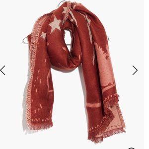 Madewell starscape fringed scarf extra large